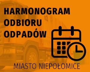 Harmonogram wywozu odpadów Niepołomice