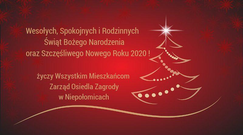 Życzenia Świąteczne Osiedle Zagrody Niepołomice