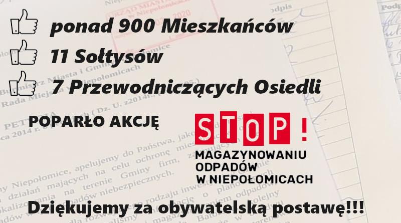 STOP Magazynowaniu odpadów w Niepołomicach