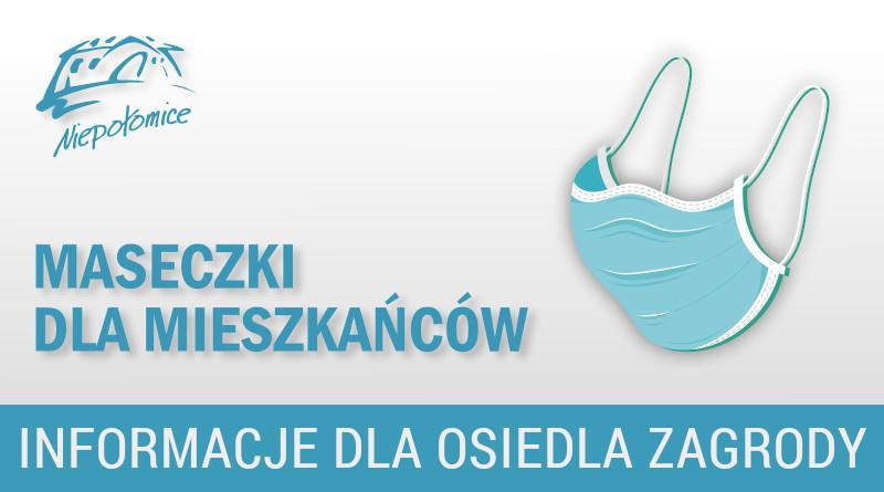 Maseczki dla mieszkańców Osiedla Zagrody w Niepołomicach
